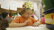 A Grade 1 pupil photographed last year at Bessborough Public School in Toronto. (Charla Jones/Charla Jones/Globe and Mail)