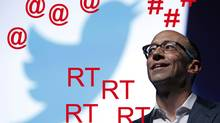 Twitter's CEO Dick Costolo is seen during a conference at the Cannes Lions in Cannes June 20, 2012. Cannes Lions is the International Festival of creativity. (Eric Gaillard/Reuters)