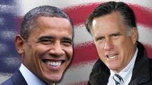 Less than two weeks before election day, the final AP-GfK poll finds the likely electorate split between Mitt Romney and Barack Obama, 47 percent back Romney, 45 percent Obama. That represents no significant change from the previous AP-GfK poll. (AP)