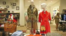 A display at the new J. Crew location at Yorkdale Mall in Toronto. (Kevin Van Paassen/The Globe and Mail)