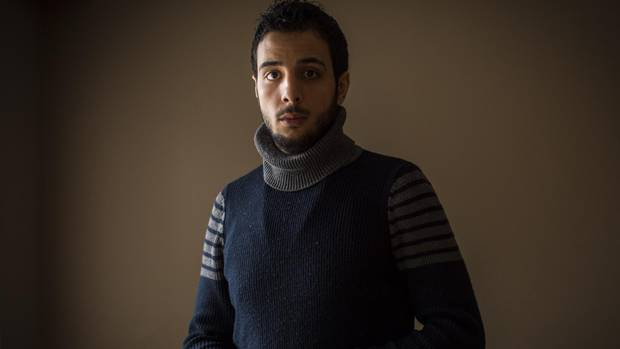Ebraheem Abo-Khoroj, a palestinian who lived in a refugee camp in Syria before fleeing, is now living in Surrey.