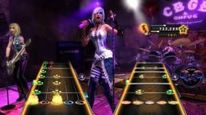 A screenshot from Activision's Guitar Hero: Warriors of Rock.