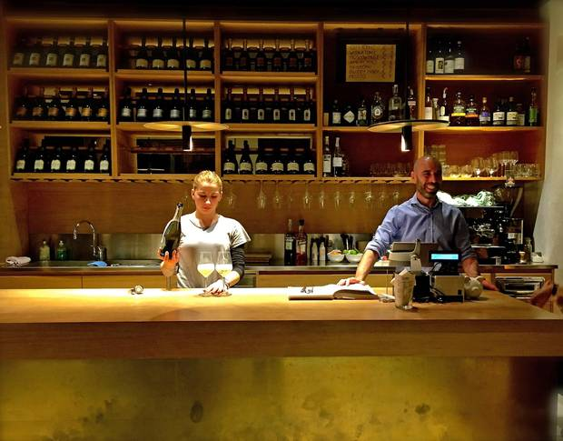Seccoo is a trendy, modern prosecco bar and lively local gathering spot situated on Valdobbiadene's neoclassical main square.