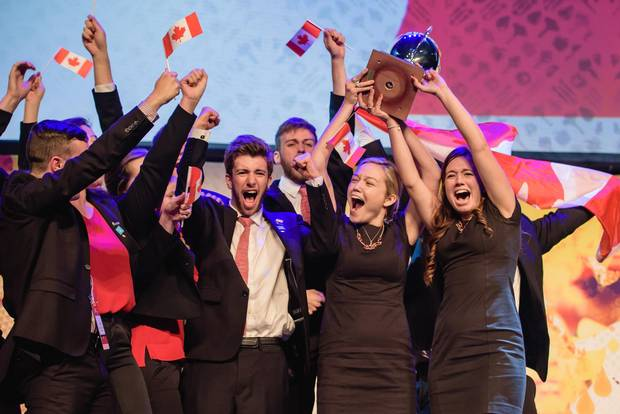 Memorial's team placed second at the recent Enactus World Cup.