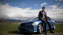 Swimmer Brent Hayden is a fan of BMWs, in particular his M3. (Rafal Gerszak for The Globe and Mail)