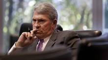 Hunter Harrison, CEO of CP Rail during a 2013 interview. (Moe Doiron/The Globe and Mail)