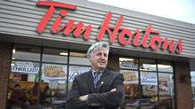 Danny Murphy outside one of his many Tim Hortons franchises across Prince Edward Island. (Nathan Rochford for The Globe and Mail)