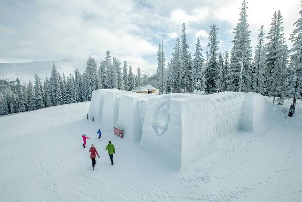 Past incarnations of Keystone Resort's mountaintop snow fort have sported sculpted turrets, fortified walls and undulating slides, and have maxed out at more than 3,000 square feet.