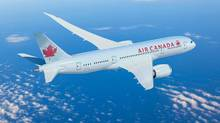 Air Canada's Boeing Dreamliner 787-8 flies into Canadian airspace Spring 2014. (AIR CANADA)