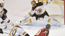 The Boston Bruins' possession game, along with goalie Tuukka Rask's play, gives the team an excellent chance at winning the Stanley Cup. (Marilyn Indahl/USA Today Sports)