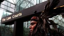Alec Dan, of the Musqueam First Nation, looks on outside the British Columbia Court of Appeal in Vancouver, B.C., on Monday November 15, 2010. (Darryl Dyck for The Globe and Mail)