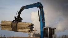 The West Fraser Timber sawmill in Quesnel, BC December 16, 2010. (JOHN LEHMANN/JOHN LEHMANN/THE GLOBE AND MAIL)