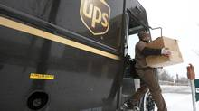 UPS shares satisfy all four criteria in our technical analysis of S&P 100 stocks. (JIM YOUNG/REUTERS)